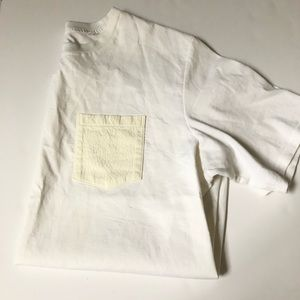 RAG & BONE SHORT SLEEVE TEE W/TEXTURED POCKET